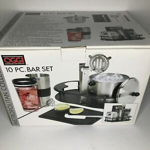 OGGI 10 PC Stainless Steel Bar Tool Set New in the Box Recipe