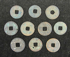 10 Pieces China Ancient Coins Tang Dynasty Ad 618-907