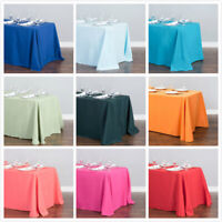 LinenTablecloth 90 x 156 in. Rect Poly Tablecloths,33 Color! Wedding Event Party