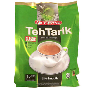 Aik Cheong Teh Tarik Milk Tea Beverage 3 in 1 Classic 600g (15 Sachets )