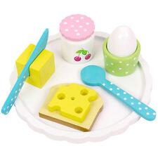 JaBaDaBaDo Frühstück-Set 9-teilig Spiellebensmittel Spielzeug aus Holz