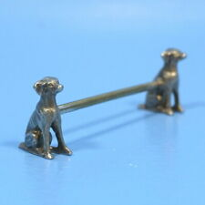 Antique German WMF Silver KNIFE REST Twin Figural HUNT DOG c1920s Tableware