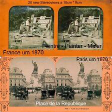 20 Stereoviews von PARIS, Lot 3, France Frankreich 1870 - 1900 images stéréo
