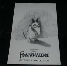 Disney FRANKENWEENIE SPARKY IMAX Movie Premier Poster Exclusive Limited Ed NEW