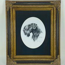 Cesky Terrier Pencil Dog 8x10 Art Print Artist David J Rogers Ornate Wood Frame