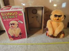 Vintage battery operated Bongo Benny, Barrel Monkey. Alps No. 32, made in Japan,