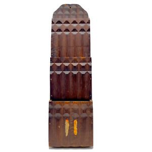 Vintage Handmade Wooden Wall Pocket Mail Sorter Organizer File Cubist Design