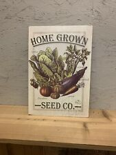 Garden Seed Sign Home Decor