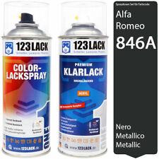 Autolack Lackspray Set Alfa Romeo 846A NERO METALLICO Metallic Spray + Klarlack
