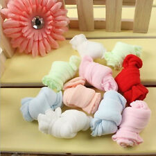 5 Paires Bébé Long Douce Chaussettes montantes Anti Glisse Fille Garçon 0-3 ans