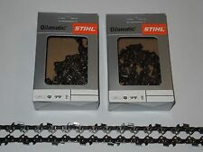 "2 x Original Stihl Sägekette 35 cm 1,1  3/8"" PICCO MICRO 52 x TG"