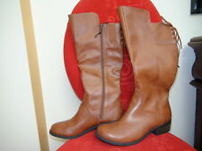 Arizona Jean Ladies Boots size 9 M Chestnut  1,5 in Heel Wide Calf Memory Foam