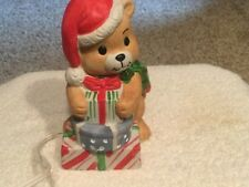 Porcelain  Christmas Teddy Bear Night Light