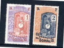 Somalia francese 1915 2 francobolli usati