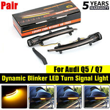 Left+Right Sequential Dynamic LED Wing Mirror Indicator Light Fit For AUDI Q5 Q7