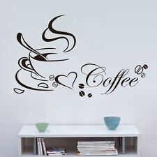 Coffee Cups Kitchen Wall Stickers Cafe Vinyl Art Home Dining Room Decals Paper