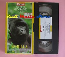 film VHS cartonata NATIONAL GEOGRAPHIC VIDEO GORILLA Panorama 1997 (F37*) no dvd