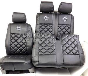 Van Seat Cover for TRANSPORTER T5 T6 PREMIUM  A5 Black Bentley logo