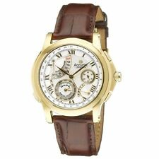 Accurist Stainless Steel Genuine Leather Strap Wristwatches