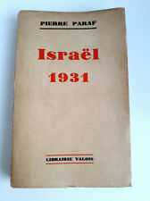 Israel 1931 par Paraf chez de Valois 1931 Edition originale