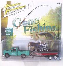 JOHNNY LIGHTNING GONE FISHING S1 1965 CHEVY TRUCK w/BOAT & TRAILER B 1/2,004