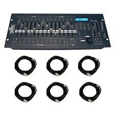 Chauvet DJ OBEY70 Obey 70 Light Fog Lighting Controller + (6) 10 ft. DMX Cables