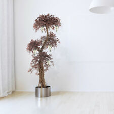Flowering Red Japanese Fruticosa Artificial Trees Plants, 6ft Artificial Topiary