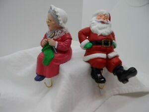 Mr & Mrs. Santa Claus Hallmark Chirstmas Stocking Hangers Decoration 1988