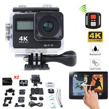 Wifi 4K Sports Camera Ultra HD Helmet Mini DV Action Camcorder W/Remote+2Battery