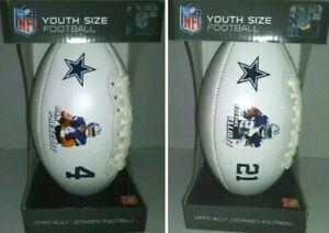 Dallas Cowboys Footballs YOUTH Size Dak Prescott Zeke Elliott NEW SET of 2