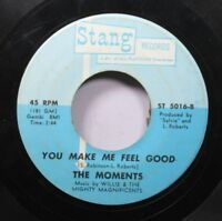 Soul 45 The Moments - You Make Me Feel Good / If I Didn'T Care On Stang Records