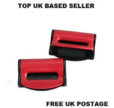 RED BMW ADJUSTABLE SAFETY BELT STOPPER CLIP SEAT LUGGAGE PACK OF 2