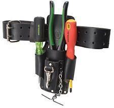 Black Tools Leather Organizer Pouches Belt Bag Pocket Waist Electricians Durable