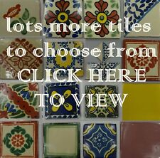 Hand-Made Ceramic Mexican Wall Tile Painted Mexico Terracotta Tiles VARIOUS