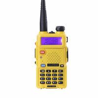 Yellow Baofeng UV-5R Dual-Band Two-way Radio VHF/UHF FM 5R Walkie Talkie Radio