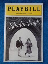 Shadowlands - Brooks Atkinson Theatre Playbill - January 1991 - Jane Alexander