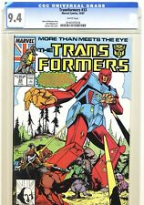 TRANSFORMERS #33 CGC 9.4, Marvel Comics 1987 Inner well only