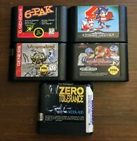 Sega Genesis Lot 6-Pak Sonic 2 Zero Tolerance Weaponlord High Impact Football