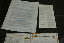 Danbury Mint Paperwork 1956 DeSoto Indy 500 Pace Car