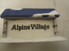 "Department 56 Exclusive Series Alpine Village ""Sign"" mint free shipping"