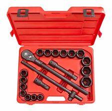TEKTON 21-pc. 3/4 Drive Shallow Impact Socket Set SAE 6 Point Tool Set 4899 NEW