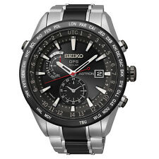 Seiko Astron Solar GPS Titanium Black Ceramic 46.5mm Watch SAST015 Cal.7X52