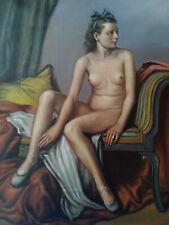 """Original Ölbild / Oilpaiting """" weiblicher Akt """"  Adolf Ziegler, 1942"""