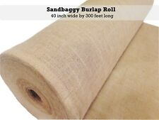 "40"" x 300 feet Burlap Fabric Roll - Table Runner, Aisle Runner, Jute Webbing"