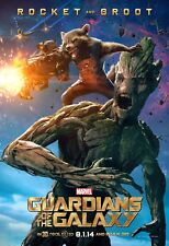 Marvel GUARDIANS OF THE GALAXY 2014 Ver C DS 2 Sided 4x6' US Bus Shelter Poster