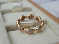 BNWB RARE RETIRED GENUINE PANDORA SOLID 18K ROSE GOLD 8 POD DIAMOND RING-SIZE 53