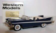 WESTERN MODELS 1/43 WMS51X - 1958 PLYMOUTH BELVEDERE - OPEN - BLUE