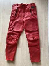 AKITO MEN/LADIES MOTORCYCLE RED LEATHER PANTS TROUSERS  SIZE 34-36 WAIST UK