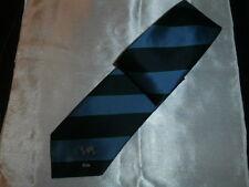 Vtg FINA (Fédération Internationale de Natation)  Stripped Blue Logo Tie