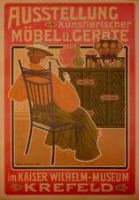 Original Plakat - Ausstellung künstlerischer Möbel u. Geräte